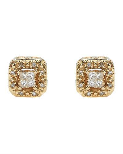 Brand New Earring with 0.2ctw diamond 10K Yellow gold