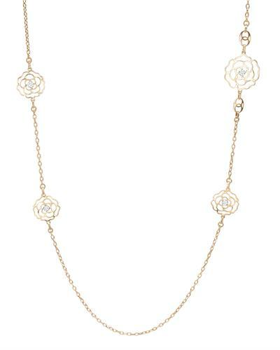 Brand New Necklace with 0.28ctw diamond 18K Two tone gold