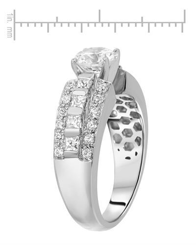 Brand New Ring with 1.8ctw of Precious Stones - cubic zirconia and cubic zirconia 925 Silver sterling silver