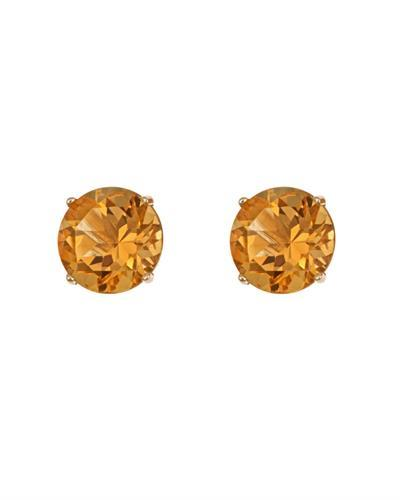 Brand New Earring with 0.92ctw citrine 14K Yellow gold