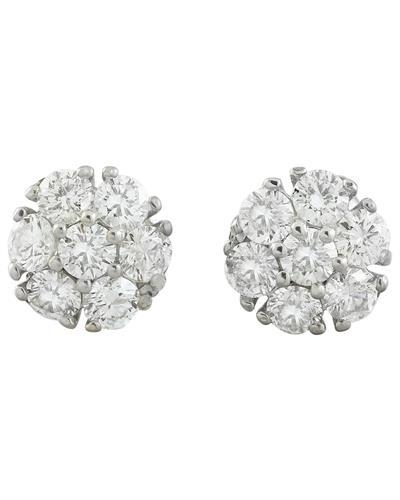 1.00 Carat 14K White Gold Diamond Earrings