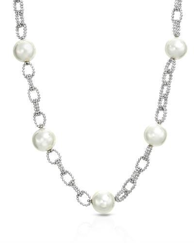 Millana Brand New Necklace with 0ctw faux pearl 925 Silver sterling silver