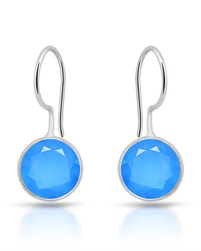 Brand New Earring with 10.5ctw chalcedony 925 Silver sterling silver
