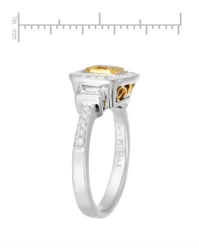 Brand New Ring with 1.08ctw of Precious Stones - diamond, diamond, and diamond 18K Two tone gold