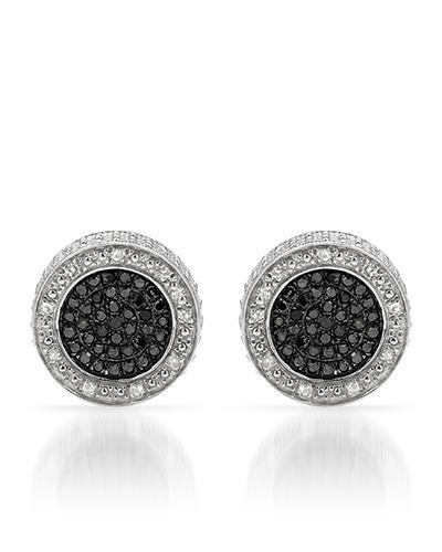 Lundstrom Brand New Earring with 0.5ctw of Precious Stones - diamond and diamond 925 Silver sterling silver