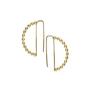 SeChic Brand New Semi Hoop Earrings in 14K Yellow Gold