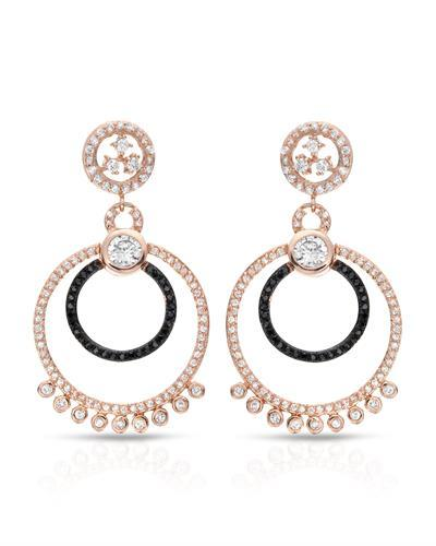 Brand New Earring with 0ctw cubic zirconia 925 Rose sterling silver