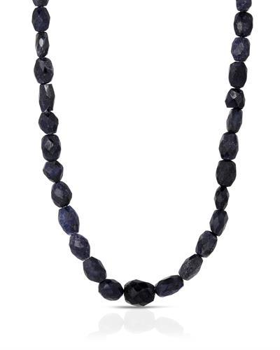 Brand New Necklace with 131ctw sapphire 925 Silver sterling silver