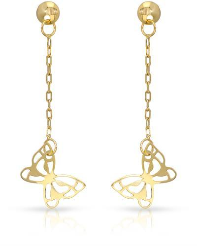 Golden Arc Jewelry Brand New Earring 14K Yellow gold