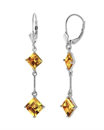 Magnolia Brand New Earring with 3.75ctw citrine 14K White gold