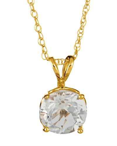 Brand New Necklace with 1.5ctw topaz 14K Yellow gold