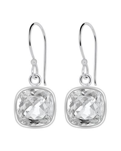 Brand New Earring with 3.4ctw topaz 925 Silver sterling silver