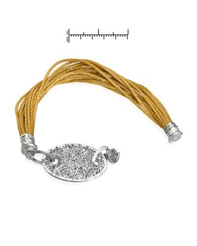 Millana Brand New Bracelet 14K/925 Two tone Gold plated Silver