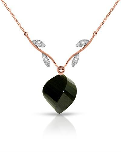 Magnolia Brand New Necklace with 15.52ctw of Precious Stones - diamond and spinel 14K Two tone gold
