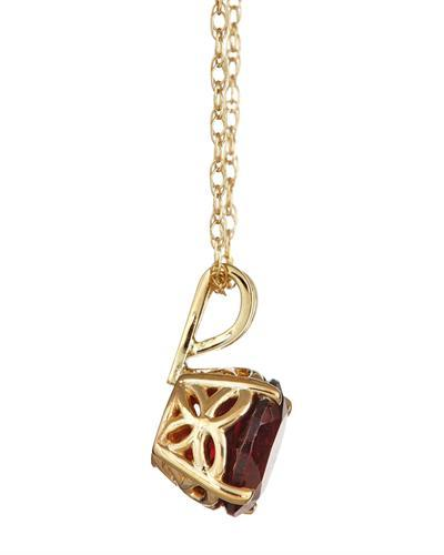 Brand New Necklace with 1.6ctw garnet 14K Yellow gold