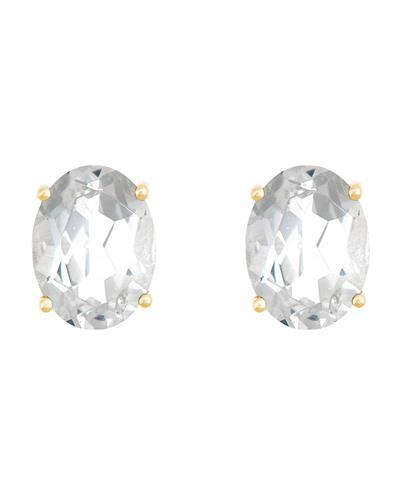 Brand New Earring with 3.2ctw topaz 14K Yellow gold