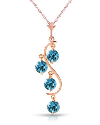 Magnolia Brand New Necklace with 2.25ctw topaz 14K Rose gold