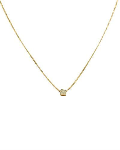 0.10 Carat 14K Yellow Gold Diamond Necklace