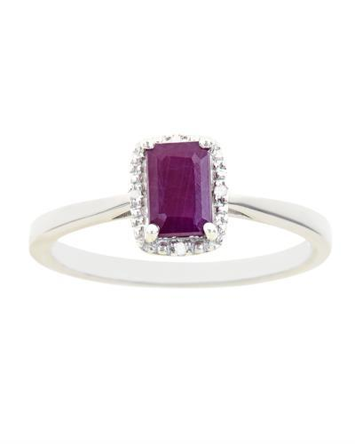 Brand New Ring with 0.66ctw of Precious Stones - diamond and ruby 925 Silver sterling silver