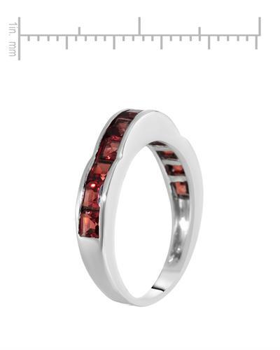 Brand New Ring with 2.64ctw garnet 925 Silver sterling silver