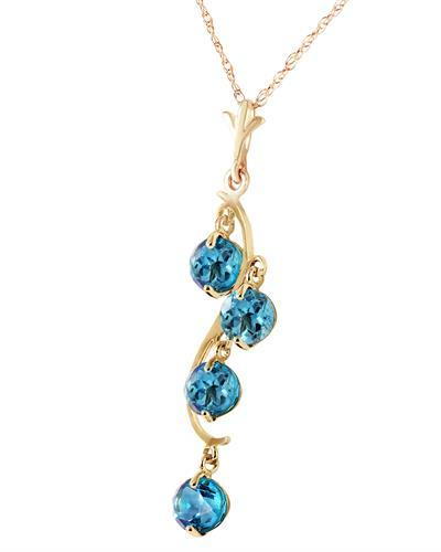 Magnolia Brand New Necklace with 2.25ctw topaz 14K Yellow gold