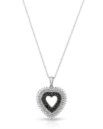 Brand New Necklace with 0.58ctw of Precious Stones - diamond and diamond 10K White gold