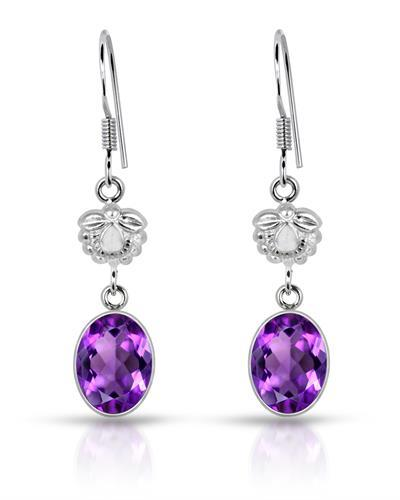 Brand New Earring with 5ctw amethyst 925 Silver sterling silver