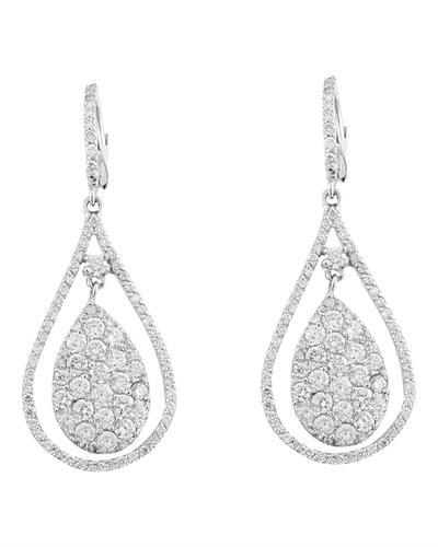 4.50 Carat Diamond 14K White Gold Earrings