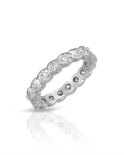 Julius Rappoport Brand New Ring with 2.82ctw diamond 18K White gold