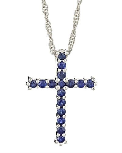 Brand New Necklace with 0.8ctw sapphire 925 Silver sterling silver