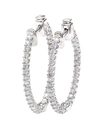 1.75 Carat Natural Diamond 14K Solid White Gold Earrings
