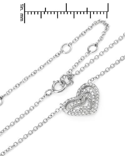 Brand New Necklace with 0.35ctw diamond 18K White gold