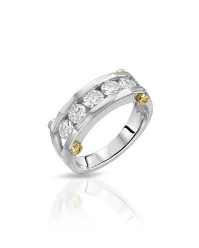 Julius Rappoport Brand New Ring with 0.95ctw diamond 18K Two tone gold