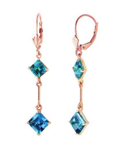 Magnolia Brand New Earring with 3.75ctw topaz 14K Rose gold