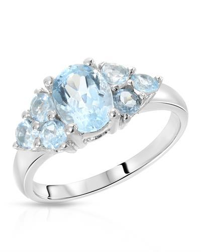 Brand New Ring with 2.32ctw of Precious Stones - topaz and topaz 925 Silver sterling silver