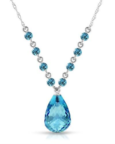 Magnolia Brand New Necklace with 11.5ctw topaz 14K White gold