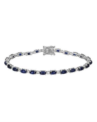 Michael Christoff Brand New Bracelet with 8.77ctw of Precious Stones - diamond and sapphire 14K White gold