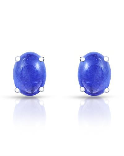 Brand New Earring with 3.7ctw tanzanite 925 Silver sterling silver