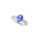 Brand New 1.68ctw Solitaire Ring with Diamonds & Tanzanite in 14K White Gold
