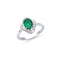 Brand New 1.26ctw Cocktail Ring with Diamonds & Emerald in 14K White Gold