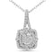 FD Brand New Pendant with 0.38ctw Lab Grown Diamonds in 10K White Gold