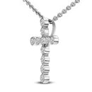 FD Brand New Pendant with 0.25ctw Lab Grown Diamonds in 10K White Gold