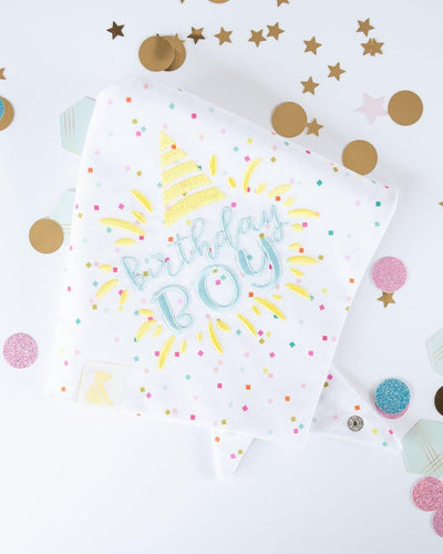 Birthday Boy Confetti Dog Bandana