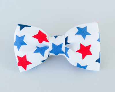 Americana Stars Butterfly Dog Bow Tie