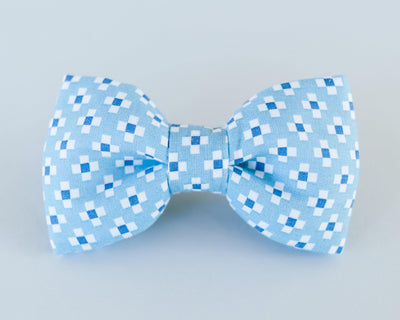Four Square Blue Butterfly Dog Bow Tie