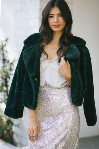 Evelyn Faux Fur Coat Outerwear LUSH
