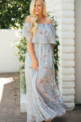 Jeanie Off the Shoulder Maxi Dress
