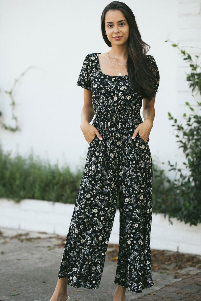Casey Puff Sleeve Jumpsuit Jumpsuits Final Touch Black Small