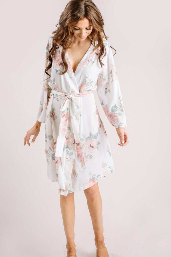 Sienna Floral Robe Loungewear & Intimates Everly Ivory XS