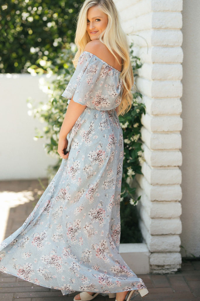 Jeanie Off the Shoulder Maxi Dress Dresses Aakaa
